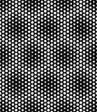 Vector modern seamless sacred geometry pattern dots, black and white abstract Royalty Free Stock Images