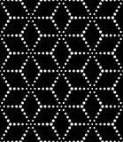 Vector modern seamless sacred geometry pattern dots, black and white abstract Stock Photo