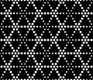 Vector modern seamless sacred geometry pattern dots, black and white abstract Royalty Free Stock Photos