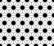 Vector modern seamless sacred geometry pattern floral, black and white abstract Royalty Free Stock Photography
