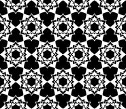 Vector modern seamless sacred geometry pattern floral, black and white abstract Stock Image