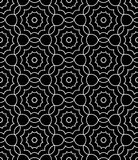 Vector modern  seamless  sacred geometry pattern floral, black and white abstract Stock Photo
