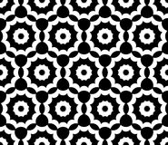 Vector modern  seamless  sacred geometry pattern floral, black and white abstract Royalty Free Stock Photos