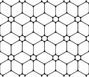 Vector modern seamless sacred geometry pattern flower of life, black and white abstract stock illustration