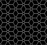Vector modern seamless sacred geometry pattern flower of life, black and white abstract Stock Photo