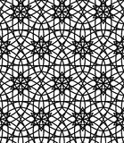 Vector modern seamless sacred geometry pattern flower of life, black and white abstract Royalty Free Stock Images