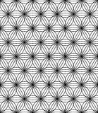 Vector modern seamless sacred geometry pattern flower of life, black and white abstract Royalty Free Stock Photos