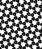 Vector modern seamless sacred geometry pattern grid, black and white abstract Royalty Free Stock Images