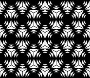 Vector modern seamless sacred geometry pattern hexagon, black and white abstract Stock Photo