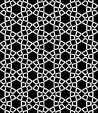 Vector modern seamless sacred geometry pattern hexagon, black and white abstract Royalty Free Stock Photography