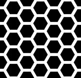 Vector modern seamless  sacred geometry pattern honeycomb, black and white abstract Stock Photo