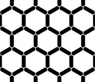 Vector modern seamless  sacred geometry pattern honeycomb, black and white abstract Stock Photos