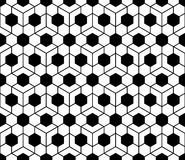 Vector modern seamless sacred geometry pattern honeycomb, black and white abstract Stock Photography