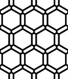 Vector modern seamless  sacred geometry pattern honeycomb, black and white abstract Royalty Free Stock Photos