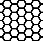 Vector modern seamless  sacred geometry pattern honeycomb, black and white abstract Royalty Free Stock Image