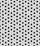 Vector modern seamless sacred geometry pattern pentagon Royalty Free Stock Images