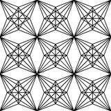 Vector modern seamless  sacred geometry pattern polygon , black and white abstract Stock Photography