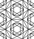 Vector modern seamless sacred geometry pattern star, black and white abstract Stock Images