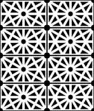 Vector modern seamless sacred geometry pattern structure, black and white Stock Photos
