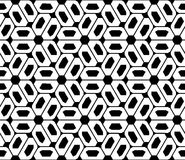 Vector modern seamless sacred geometry pattern trippy , black and white abstract Stock Images