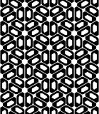 Vector modern seamless sacred geometry pattern trippy , black and white abstract Royalty Free Stock Images