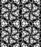 Vector modern seamless sacred geometry pattern trippy, black and white abstract Stock Images