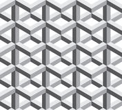 Vector modern seamless sacred geometry pattern trippy , black and white abstract Stock Photos