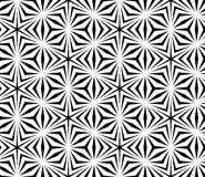 Vector modern seamless sacred geometry pattern trippy, black and white abstract Royalty Free Stock Images