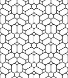 Vector modern seamless sacred geometry pattern trippy, black and white abstract Royalty Free Stock Photos