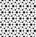 Vector modern seamless sacred geometry pattern trippy, black and white abstract Royalty Free Stock Photography