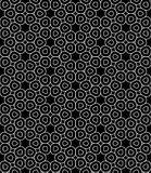 Vector modern seamless sacred geometry pattern trippy, black and white abstract Stock Image