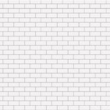 Vector modern seamless white brick background Royalty Free Stock Photography