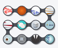 Vector modern set of business backgrounds Royalty Free Stock Image