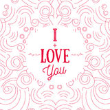 Vector modern shape Valentine greeting card  Royalty Free Stock Image