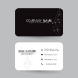 Vector Modern simple light business card template with flat user interface on gray background Royalty Free Stock Photography