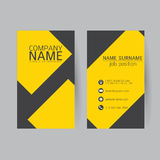 Vector Modern simple light business card template with flat user Stock Images