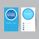 Vector Modern simple light business card template with flat user Stock Photo