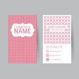 Vector Modern simple light business card template with flat user Royalty Free Stock Photography