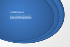 Vector modern simple oval blue and white background Royalty Free Stock Photography