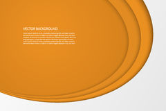 Vector modern simple oval orange and white background Royalty Free Stock Images