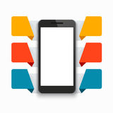 Vector modern smartphone infographics background Stock Images