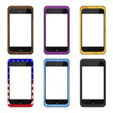 Vector modern smartphone set Royalty Free Stock Photo