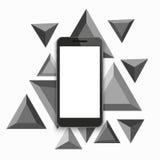 Vector modern smartphone triangular background. Stock Photo