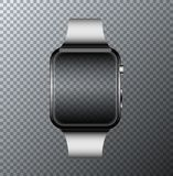 Vector modern smartwatch icon on transparent background. Royalty Free Stock Images