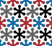 Vector modern snowflake seamless pattern. Repeating texture geometric background royalty free illustration