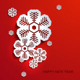 Vector modern snowflakes background. Royalty Free Stock Photo