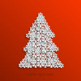 Vector modern snowflakes christmas tree Stock Images
