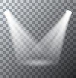 Vector modern spotlights scene with light effects Stock Photo