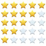 Vector modern stars icon set on white Stock Photography