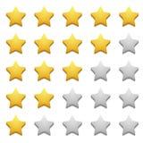 Vector modern stars icon set on white Royalty Free Stock Image
